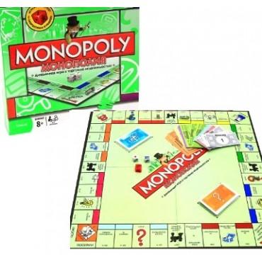 FASНастольная игра Монополия SR2803U Мировая на укрязыке поле банкноты карточки в кор 52 5*5*26см
