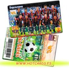 ХотКардс FK017 Барселона ФК(K)(50/400)