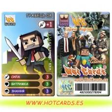 ХотКардс G020 ГРАВЕЦЬ 08 Відео Ігри-M (Б)(50/400)