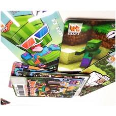 Боевой набор игра ХотКардс Minecraft  12 игровых карточек