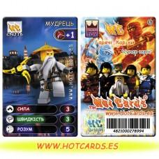 HotCards-ХотКардс NinjaGo(ниндзяго) CNJ16 МУДРЕЦЬ Супер Герої(Б)(50/400)