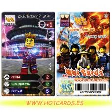 HotCards-ХотКардс NinjaGo(ниндзяго) CNJ18 СКЕЛЕТНИЙ МАГ Супер Герої (Б)(50/400)