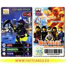 HotCards-ХотКардс NinjaGo(ниндзяго) CNJ19 ЧОРНИЙ КРЮК Супер Герої(Б)(50/400)