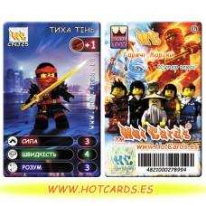 HotCards-ХотКардс NinjaGo(ниндзяго) CNJ25 ТИХА ТІНЬ Супер Герої(Б)(50/400)