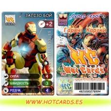 HotCards-ХотКардс (Супергерои) C016 ЗАЛІЗО БОЙ Супер Герої-ГК (Б)(50/400)