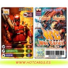 HotCards-ХотКардс (Супергерои) C024 ДЕД РЕД Супер Герої-ГК (Б)(50/400)