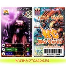 HotCards-ХотКардс (Супергерои) C027 МАГНІТУС Супер Герої-ГК (Б)(50/400)