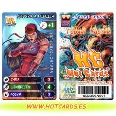 HotCards-ХотКардс (Супергерои) C047 ДІВЧИНА НІНДЗЯ Супер Герої-ГК(Б)(50/400)