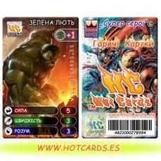 HotCards-ХотКардс (Супергерои) C056 ЗЕЛЕНА ЛЮТЬ Супер Герої-ГК (Б)(50/400)