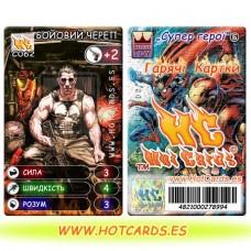 HotCards-ХотКардс (Супергерои) C062 БОЙОВИЙ ЧЕРЕП Супер Герої-ГК(Б)(50/400)