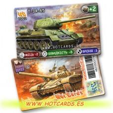 HotCards-ХотКардс  Танки T002 Т-34-85  (Б)(50/400)