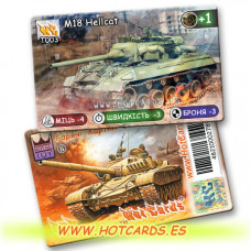 HotCards-ХотКардс Танки T003 M18 Hellcat  (Б)(50/400)
