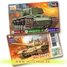 HotCards-ХотКардс Танки T004 КВ-1  (Б)(50/400)